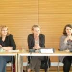 Johanna Voß (MdB LINKE), Sylvia Kotting-Uhl (Grüne), Ute Vogt (SPD)